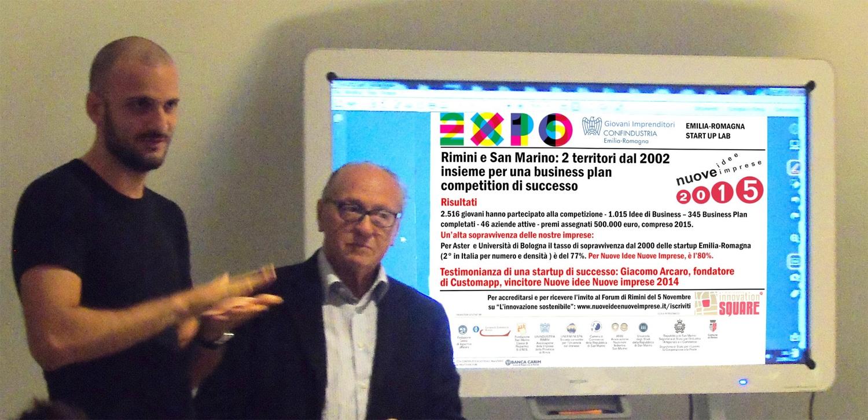 """14 ANNI DI """"NUOVE IDEE NUOVE IMPRESE"""" PRESENTATI A EXPO 2015"""